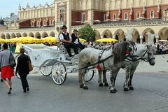 Cracow, Poland. The turist attraction Stock Images
