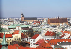 Cracow roofs Stock Photo