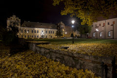Cracow, square in front of the Bishop's Residence in Krakow by night. royalty free stock photo