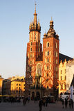 Cracow sunset cathedral Royalty Free Stock Photos