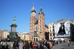 Cracow turister Royaltyfri Fotografi