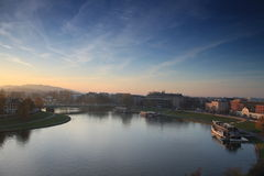 Cracow. Vistula River flowing through Cracow Royalty Free Stock Images