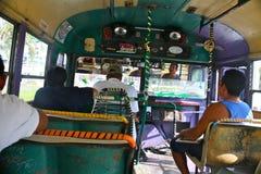 Cracy busdriver, Acapulco, Mexico Royalty-vrije Stock Afbeelding