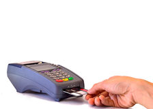 Cradit Card Banking. Technology, banking,cardit card, money and internet concept Stock Images