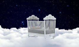 Cradle on the clouds Royalty Free Stock Photography