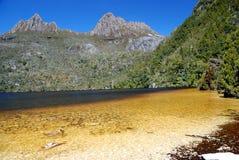Cradle Mountain. St. Clair National Park in Tasmania stock photos