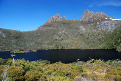 Cradle Mountain. St. Clair National Park in Tasmania royalty free stock photography