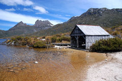 Cradle Mountain. St. Clair National Park in Tasmania Royalty Free Stock Photos