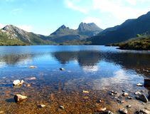 Cradle Mountain. In Tasmania (1545m)  is a mountain in the -Lake St Clair National Park, Tasmania, Australia. The area around the mountain has a large number of Royalty Free Stock Photos