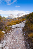 Cradle Mountain. Winding path at Cradle Mountain in Tasmania Royalty Free Stock Photo