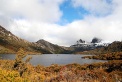 Cradle Mountain. Is a popular tourist destination & a hiker's paradise. It is part of Tasmania's World Heritage area of -Lake St Clair National Park and is a Royalty Free Stock Photos