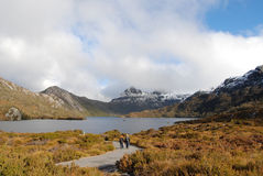 Cradle Mountain. Is a popular tourist destination & a hiker's paradise. It is part of Tasmania's World Heritage area of -Lake St Clair National Park and is a Royalty Free Stock Photo