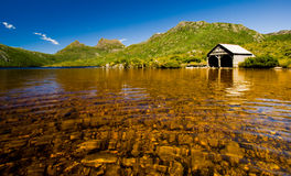 Cradle Mountain Boat Shed Royalty Free Stock Photo