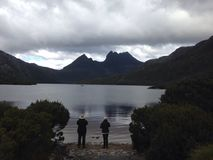 Cradle Mountain. The Cradle Mountain is a mountain in the Central Highlands region of Tasmania, Australia. The mountain is situated in the Cradle Mountain-Lake stock image