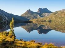 Cradle Mountain and Dove Lake. In the Cradle Mountain - Lake St Clair National Park in Tasmania, Australia royalty free stock photos