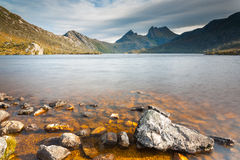 Cradle Mountain and Dove Lake. In Lake St Clair National Park, Tasmania, Australia Stock Image