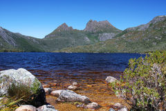 Cradle Mountain and Dove Lake in Tasmania Stock Images