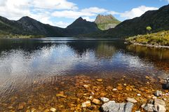 Cradle Mountain and Dove Lake Royalty Free Stock Photography