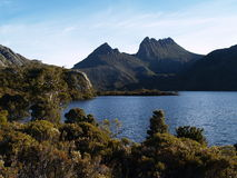 Cradle mountain and lake Dove Royalty Free Stock Images