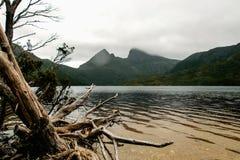 Cradle Mountain-Lake St Clair National Park. Cradle Mountain and Dove Lake, Cradle Mountain-Lake St. Clair National Park, UNESCO World Heritage Site, Tasmania stock image