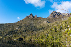 Cradle Mountain landscape on sunny day. Cradle Mountain National Park, Australia stock images