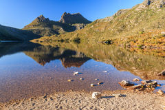 Cradle Mountain. Morning Light at Cradle Mountain in Lake St Clair National Park, Tasmania, Australia Royalty Free Stock Photos