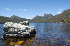 Cradle Mountain National Park with lake Stock Image