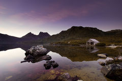 Cradle Mountain Sunrise. Peaceful Sunrise over Cradle Mountain, Tasmania Royalty Free Stock Photo