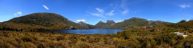 Cradle Mountain Tasmania. Panorama of Cradle Mountain National Park Tasmania Royalty Free Stock Photography