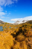 Cradle Mountain, Tasmania. Snow-capped peaks of Cradle Mountain in Tasmania, Australia Stock Image