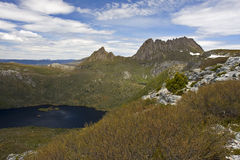 Cradle Mountain Tasmania Australia. From Marions Lookout with Dove Lake below Stock Image