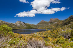 Cradle Mountain Tasmania. The Cradle Mountain and Lake Dove are part of the famous tourist and Cradle Mountain - Lake St Clair National Park, Tasmania, Australia Stock Photos