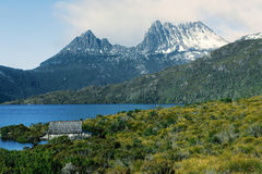 Cradle mountain in Tasmania. View of a cradle mountain in Tasmania, Australia stock photos