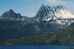 Cradle mountain in Tasmania. View of a cradle mountain in Tasmania, Australia Royalty Free Stock Image