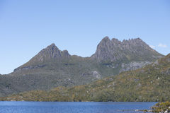 Cradle Mountains with Dove Lake in Tasmania Royalty Free Stock Photo
