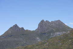 Cradle Mountains Tasmania Australia. Beautiful landscape scenery of Cradle Mountain National Park in Tasmania, Australia, blue sky as copy space Stock Images