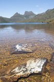 Cradle Mountains Tasmania with lake Stock Images