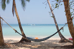 Cradle beside shore and ocean. Thailand stock images