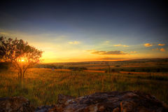 Cradle Sunset. Sunset view from the cradle of human kind, south africa stock image