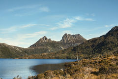 Cradlel Mountain in Tasmania. View of Cradle Mountain in Tasmania Australia Royalty Free Stock Photos