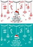Crads рождества, элементы дизайна вектора Стоковая Фотография