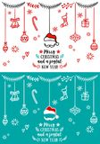 Crads de Noël, éléments de conception de vecteur Photographie stock