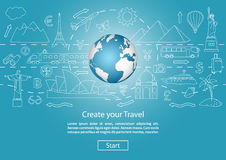 Craete your Trawel with Globe Royalty Free Stock Photo