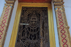 Craft Artwork in Thai Temple Royalty Free Stock Photography