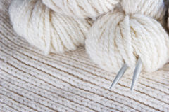 Craft background - knitting Royalty Free Stock Image