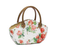 Craft Bag with decoupage Royalty Free Stock Photo