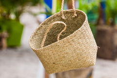 Craft basket Royalty Free Stock Images