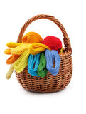 Craft basket over white Stock Photo