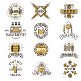 Craft beer bages vector set. Royalty Free Stock Images