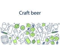 Craft beer banner vector illustration Stock Image